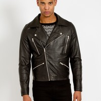 The Idle Man Leather Biker Jacket | The Idle Man
