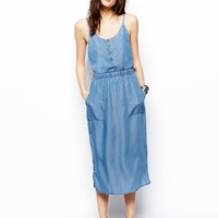 ASOS Tencel Denim Cami Midi Dress