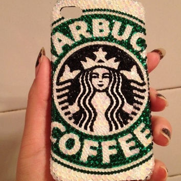 Starbucks iPhone 6 case crystal iPhone 6 plus case Bling iPhone 5 case iPhone 5s case iPhone 5c case iPhone 4 case iPhone 4s case