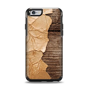 The Vintage Paper-Wrapped Wood Planks Apple iPhone 6 Otterbox Symmetry Case Skin Set