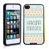 iPhone 5 5S Case ThinShell TPU Case Protective iPhone 5 5S Case Shawnex Hakuna Matata Pale Aztec Pattern