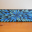 Painting Blue Flower Aboriginal Inspired 4 x 12 by Acires on Etsy