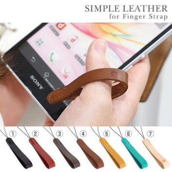 Simple Leather Finger Strap