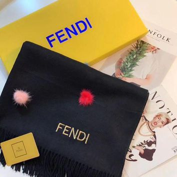 VONEY6G FENDI Women Fashion Wool Scarf Shawl Scarf Scarves-2