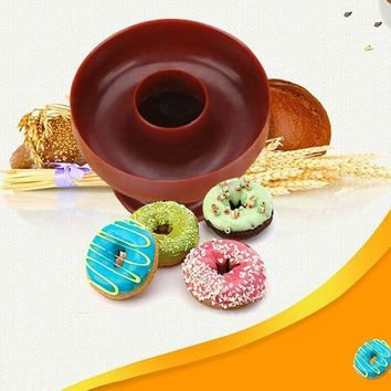 CREYLD1 New Style Plastic DIY Donut Maker Cutter Mold Fondant Cake Bread Desserts Bakery Mould Baking Tools Kitchen Accessories