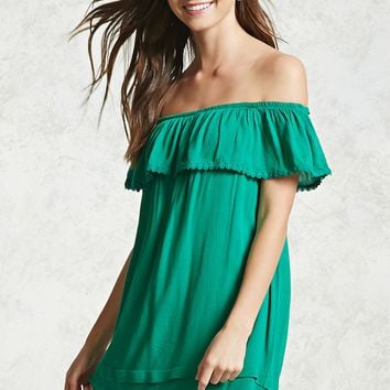 Flounce Off-the-Shoulder Dress
