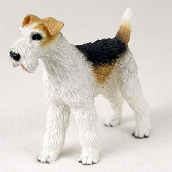 WIRE FOX TERRIER RED STANDARD FIGURINE