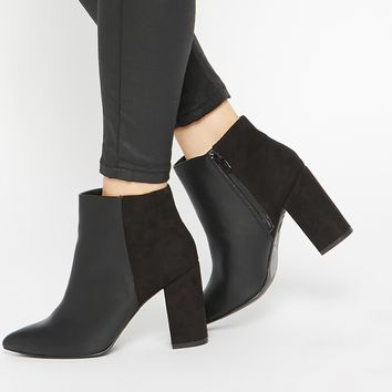 New Look Wide Fit Block Heeled Ankle Boots at asos.com