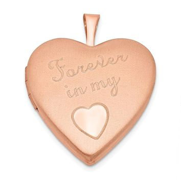 925 Sterling Silver Rose Gold-plated 20mm Forever in my Heart Locket