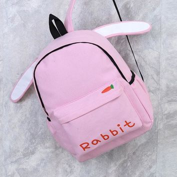 Student Backpack Children JIANXIU New Young Students Backpack Cute Casual For Girl's Backpack Canvas Soft Women's Bags AT_49_3
