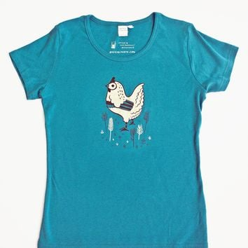 Women's Chicken T-shirt / Womens Chicken Shirt by boygirlparty®