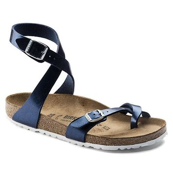 Best Online Sale Birkenstock Yara Birko Flor Patent Graceful Sea 1005569/1005570 Sanda