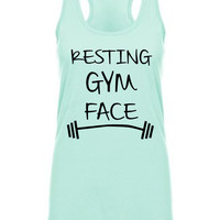Resting Gym Face Workout Tanktop
