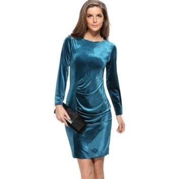 Velvet Slim Party Dress B0014433