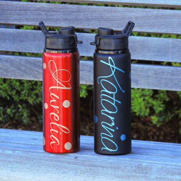 personalized water bottles, aluminum water bottle, water bottle with name, coach gift, athlete gift, summer water bottle, metal water bottle