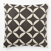 Crewel Circlet Pillow Cover – Slate