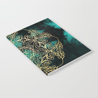 Gold & Dark Mandala Notebook by Tanyadraws