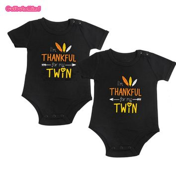 Thankful For My Twin Onesuit Set