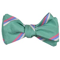Low Country Stripe Bow Tie in Seafoam by High Cotton