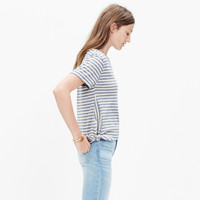 Side-Tie Crop Tee