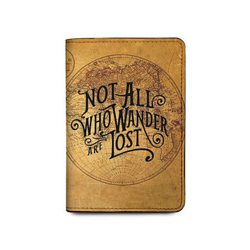 Not All Who Wander Are Lost Vintage World Map Passport Holder-Passport Cover-Passport Wallet_Chicherin Style