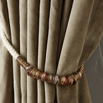 Ringed Rope Tieback by Anthropologie in Ivory Size: One Size Hardware