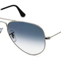 Kalete New Unisex Sunglasses Ray-Ban RB3025 Aviator Gradient 003/3F