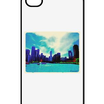 Chicago Skyline Watercolor iPhone 4 / 4S Case  by TooLoud