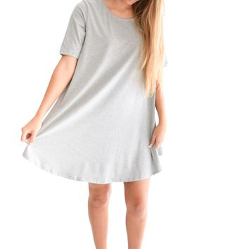 Easy To Get Dressed Dress In Grey