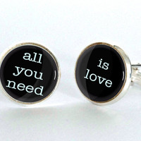 All You Need is Love Cufflinks - gift for him