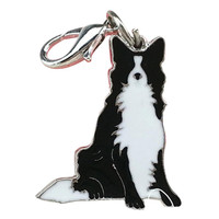 New Qualified Dog Tag border collie