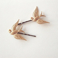 Bird Bobby Pins - Bird Hair Clips - Nature Inspired Woodland Wedding Bridal Hair Accessories Cute Adorable Elegant Romantic Whimsical Dreamy