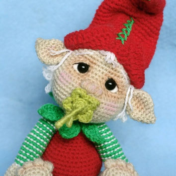 Elfin Thread- Gribin, The Baby Elf Amigurumi PDF Pattern (Elf Pixie Corchet pattern)