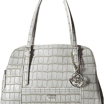 GUESS WOMEN'S HUNTLEY CALI SATCHEL GREY HANDBAG