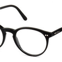 Polo Ralph Lauren 2083 Black 5001 Round Eyeglasses Authentic Frames 48-20-145 RX
