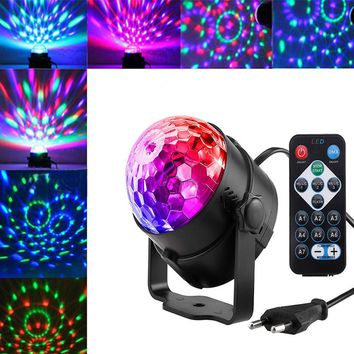 STYLEDOME 3W LED RGB Rotating Magic Ball Light Stage Light Projecting Lamp for Disco Party Festival Wedding Decoration