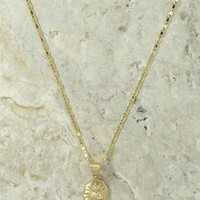 The Son Of Man Gold Charm Necklace