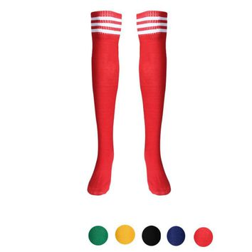 1 Pair Thigh High Sport Socks Over Knee Girls Football Socks#W21