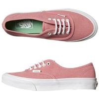 VANS WOMENS AUTHENTIC SLIM STONE WASH SHOE - CHATEAU ROSE