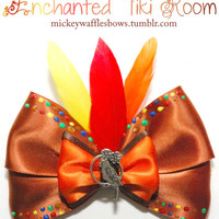 Enchanted Tiki Room Hair Bow by MickeyWaffles on Etsy