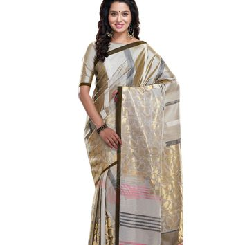 Gold Pure Silk Handloom Pattu Sari - ROSNT2059