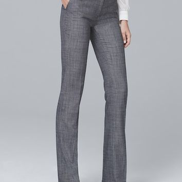 White House Black Market Textured Suiting Slim Flare Pants