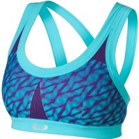 Oakley Women's Printed Strappy Strength Sports Bra