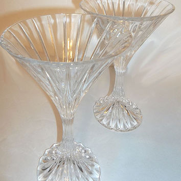 Mikasa Gold Rimmed Glass Cake Stand