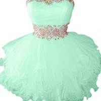 Sunvary Cute Sweety 16 Cocktail Homecoming Dress Evening Dress Mini - US Size 2- Mint