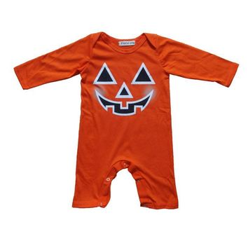 Children Baby Clothing girl Set Infant Halloween Pumpkin Devil Romper Coverall Teddy Leotard Newborn Kids costume boy Clothes