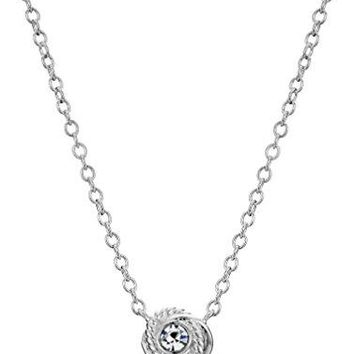 Kate Spade New York Infinity and Beyond Clear/Silver Knot Mini Pendant Necklace