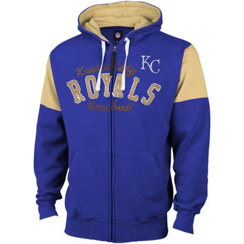 Kansas City Royals Fair Catch Full Zip Hoodie - Royal Blue