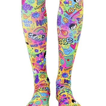 Hippie Vibes Knee High Socks