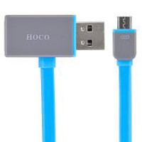 HOCO UPL03 1.2M 2 in 1 Micro USB & 8 Pin Date-sharing USB Charging Cable for iPhone 6 Plus 5 5S iPad Android Phones (Grey/Blue)